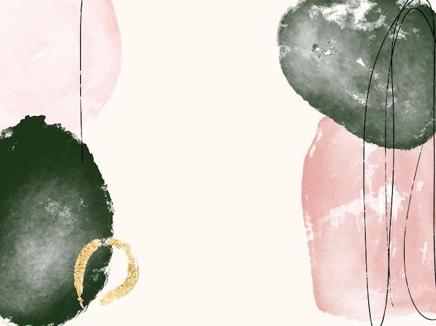 Moderne minimalistische aquarel achtergrond abstract patroon voor kaart sociale media uitnodiging