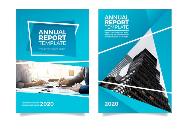 Moderne minimalistische jaarlijkse rapportsjabloon