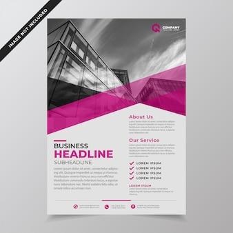 Moderne minimalistische paarse bedrijf folder sjabloon