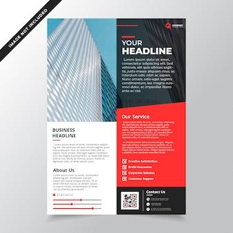 Moderne minimalistische rode zakelijke flyer sjabloon