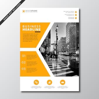 Moderne minimalistische zakelijke flyer