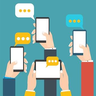 Moderne mobiele messenger
