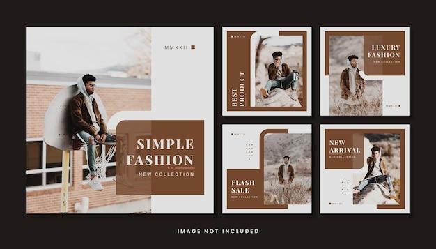 Moderne mode sociale media post sjabloonverzameling