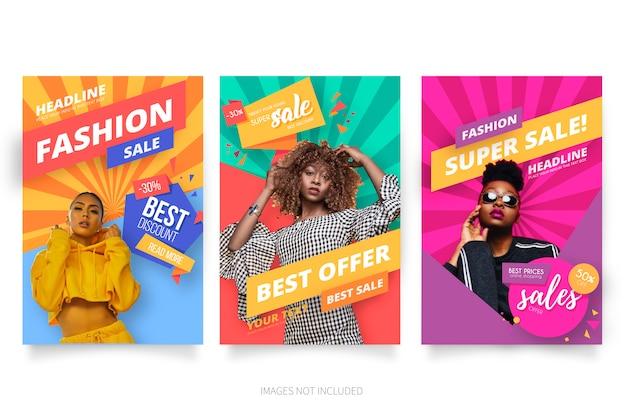 Moderne mode verkoop poster collectie