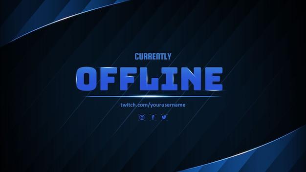 Moderne momenteel offline banner met abstracte achtergrond
