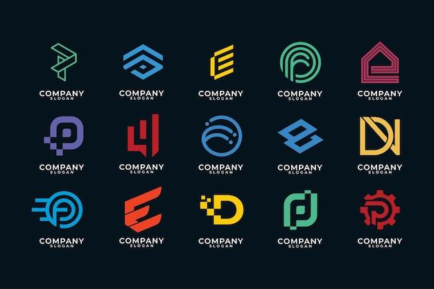 Moderne monogram logo-collectie