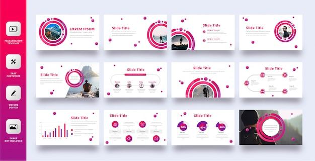 Moderne multifunctionele zakelijke presentatiesjabloon