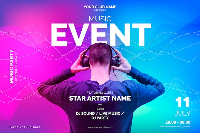 Moderne muziek evenement poster sjabloon