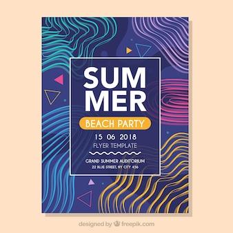 Moderne muziek fest flyer sjabloon met abstracte vormen