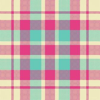 Moderne naadloze patroon plaid. vierkante textuur stof. tartan schots textiel. schoonheid kleur madras sieraad.