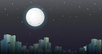 Moderne nachtscène van de stad