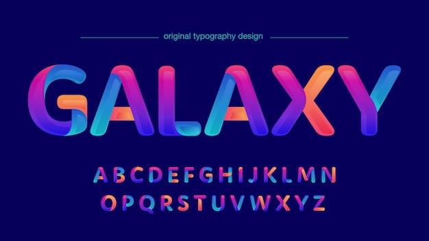Moderne neon verloop originele geïsoleerde letters