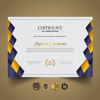 Moderne nieuwe certificaatdiplomasjabloon