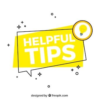 Moderne nuttige tips samenstelling met platte ontwerp
