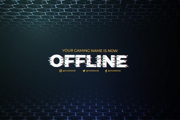 Moderne offline twitch-achtergrond met abstract 3d malplaatje als achtergrond
