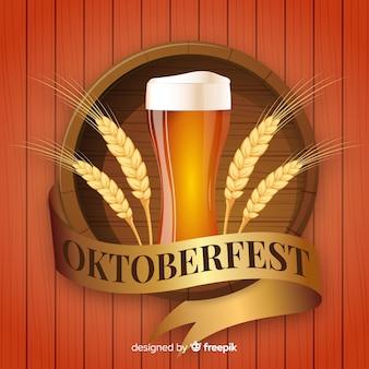 Moderne oktoberfest samenstelling met realistisch ontwerp