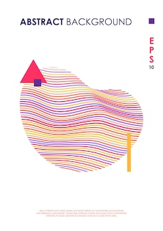 Moderne omslagontwerpsjabloon met abstracte vorm