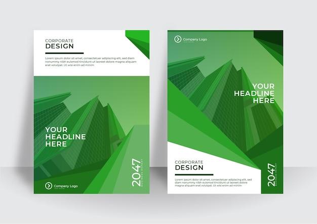 Moderne omslagontwerpsjabloon. ontwerpsjabloon voor bedrijfsjaarverslag of boek