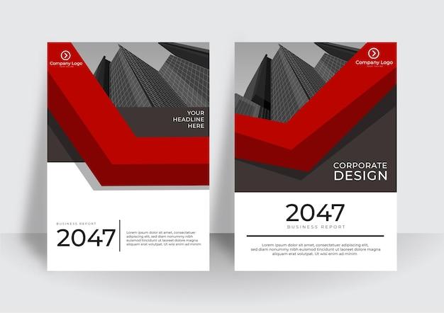Moderne omslagontwerpsjabloon. ontwerpsjabloon voor bedrijfsjaarverslag of boek Premium Vector