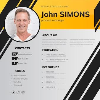 Moderne online cv-template