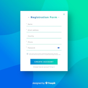 Moderne online registratie-compositio