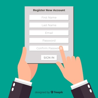 Moderne online registratiesamenstelling