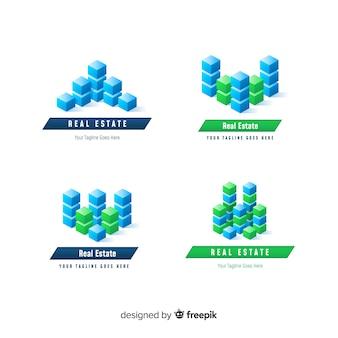 Moderne onroerend goed logo-collectie