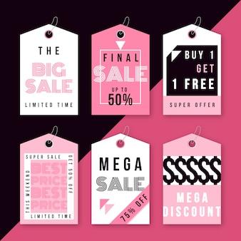 Moderne ontwerp verkoop labels sjablonen