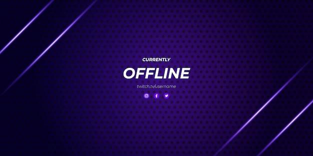 Moderne paarse twitch offline