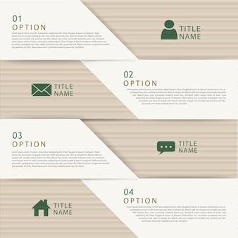 Moderne papieren vouwconcept infographic elementen sjabloon