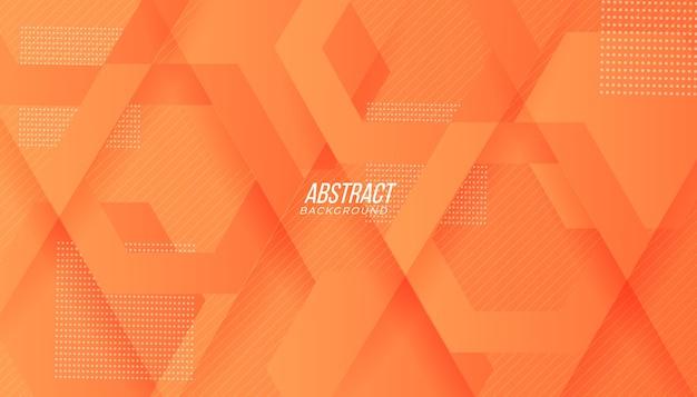 Moderne perzik oranje kleurovergang technologie abstracte achtergrond met geometrische vormen