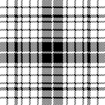 Moderne pixel zwart wit naadloze patroon plaid