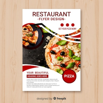 Moderne pizza restaurant folder sjabloon