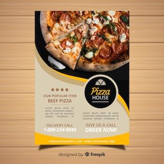 Moderne pizza restaurant folder sjabloon