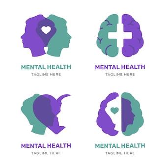 Moderne platte logo voor geestelijke gezondheid