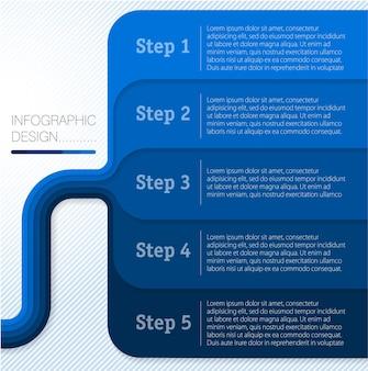 Moderne platte ontwerp minimale infographic structuur sjabloon.