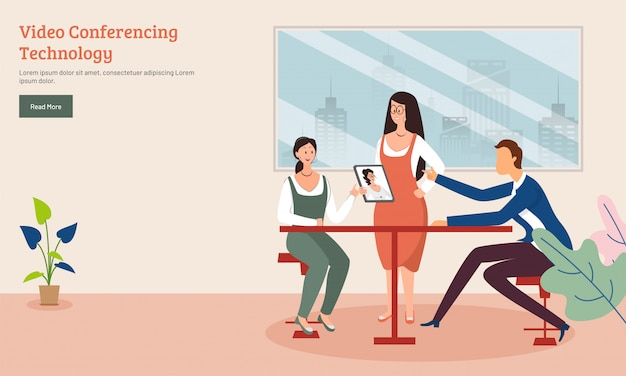 Moderne platte ontwerp websjabloon