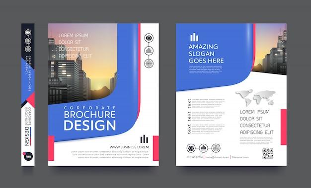 Moderne poster flyer pamflet sjabloon