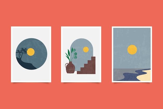 Moderne poster hedendaagse landschappen