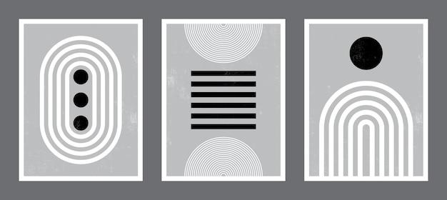 Moderne poster kunst. verzameling instellen.