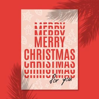Moderne poster vrolijk kerstfeest