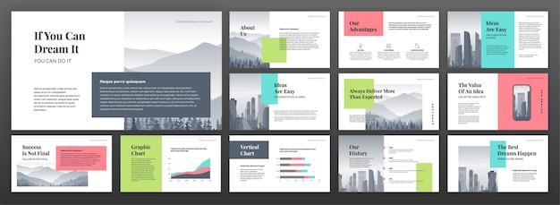 Moderne presentatiesjablonen instellen.