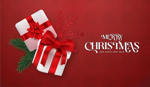 Moderne prettige kerstdagen en gelukkig nieuwjaar 2022 achtergrond