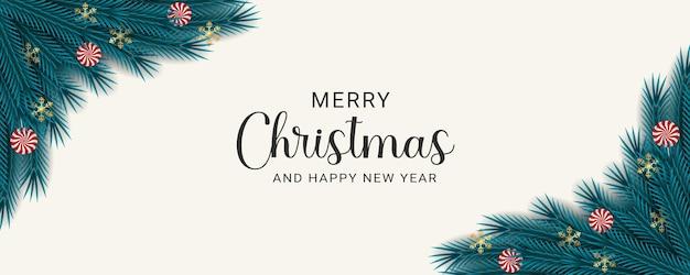 Moderne prettige kerstdagen en gelukkig nieuwjaar achtergrondontwerpsjabloon