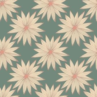 Moderne print met roze madeliefjes op grijze achtergrond. naadloos patroon