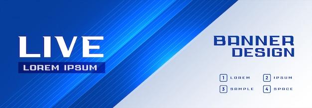 Moderne professionele blauwe banner