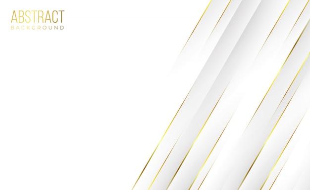 Moderne professionele schone witte gouden abstracte technologieachtergrond