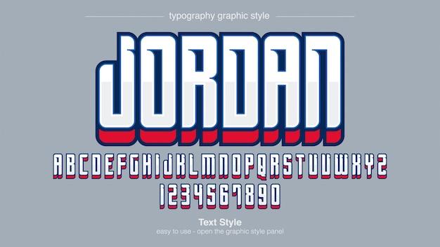 Moderne professionele sportteam typografie