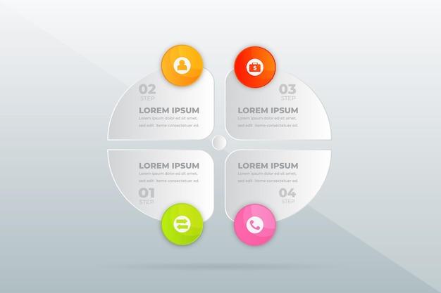 Moderne professionele stappen infographic