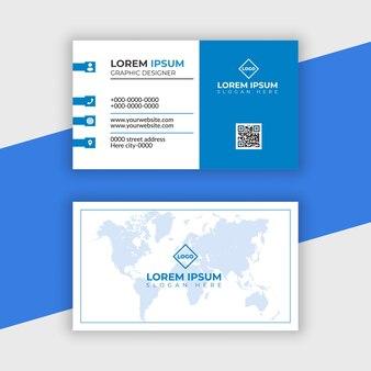 Moderne professionele visitekaartje ontwerp premium vector